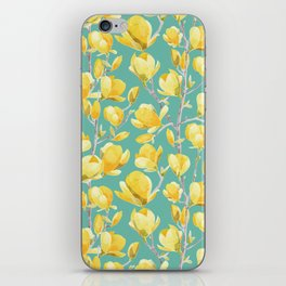 Yellow Magnolia Spring Bloom iPhone Skin