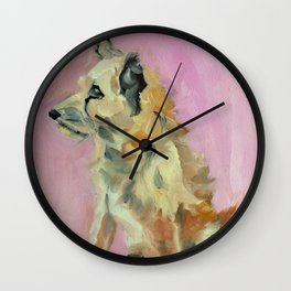 Marvelous Mystery Mutt Dog Portrait Wall Clock