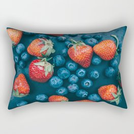 Strawberries and blueberries Rectangular Pillow