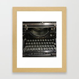 i'm a vintage type Framed Art Print