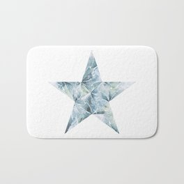 Frosted Star Bath Mat