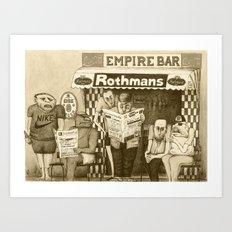 Forum (Retro Version)  Art Print