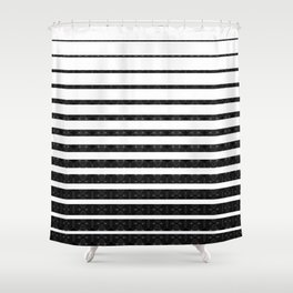 Spirograph on stripes - 1 Shower Curtain