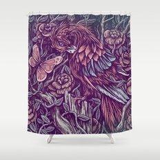 Against Shower Curtain