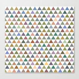 Geometric Triangles - Natural Tones Canvas Print