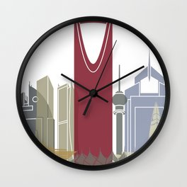 Riyadh skyline poster Wall Clock