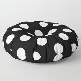 Polka Dots (White/Black) Floor Pillow