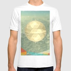Space Dome White MEDIUM Mens Fitted Tee
