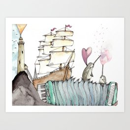 Accordion Sea Art Print