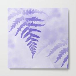 Fern Leaves In Violet Metal Print