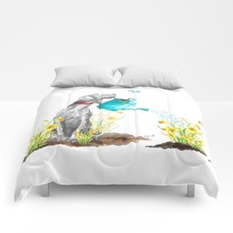 DAFFODILS AND WEIM Comforters