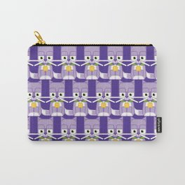 Super cute animals - Cute Kitty Cat Purple Carry-All Pouch