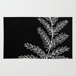 Fern Leaf (black) Rug