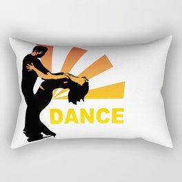 dancing couple silhouette - brazilian zouk Rectangular Pillow