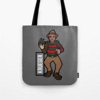 freddy krueger Tote Bags featuring Freddy Krueger by AhamSandwich