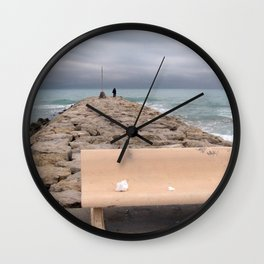 the storm moves away (Sitges) Wall Clock