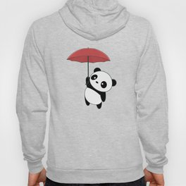 Kawaii Cute Panda With Umbrella Hoody