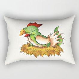 Chicken Rex Rectangular Pillow