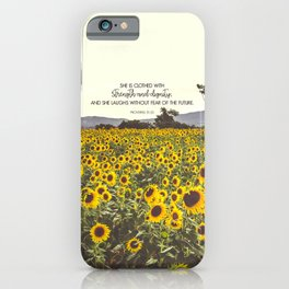 Proverbs and Sunflowers iPhone Case