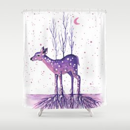 Rooted Deer Shower Curtain
