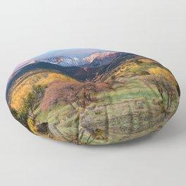 Mt. Sopris Autumn Sunrise Aspen Colorado Fall Rocky Mountains Landscape Floor Pillow