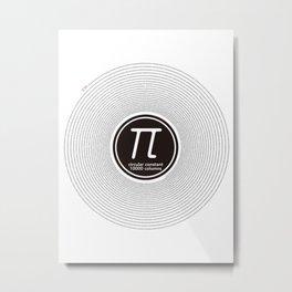 Circular constant 10000 digits Metal Print