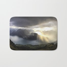 before the sunset and thunderstorm arrive. Bath Mat