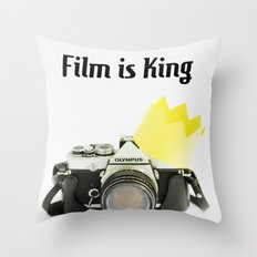 Film is King Throw Pillow