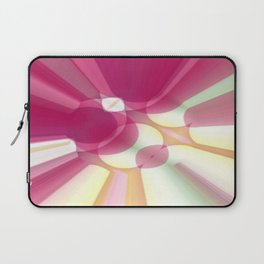 Striations Pinks and Beiges Laptop Sleeve