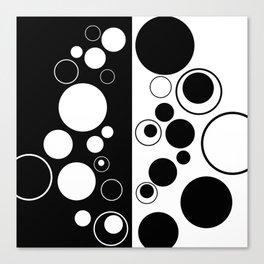 Reflections - Black and white geometric artwork Canvas Print
