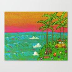 VW Beatle Bug Surf Paradise Adventure Canvas Print