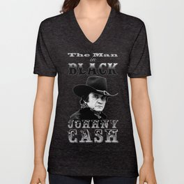 The Man In Black -  Johnny Cash Unisex V-Neck