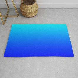 Aqua Blue Bright Ombre Rug