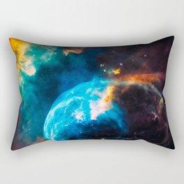 Bubble Nebula, Galaxy Background, Universe Large Print, Space Wall Art Decor, Deep Space Poster Rectangular Pillow