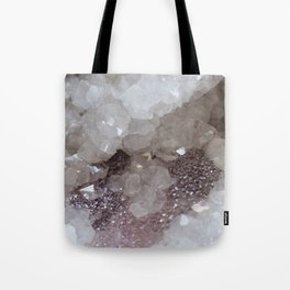 Silver & Quartz Crystal Tote Bag