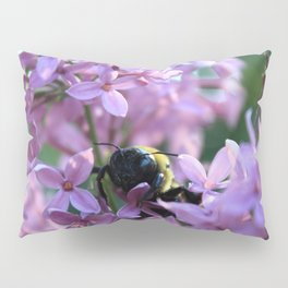 Busy Bee in Lilac Art Photography Pillow Sham