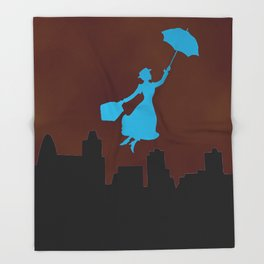 Firey Miss Poppins  Throw Blanket