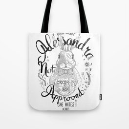 Alessandra not approved_Bunny Tote Bag