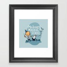Mr Jones' Magical School Framed Art Print