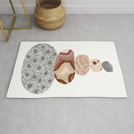 Colored Stack of Great Lakes Rocks Rug