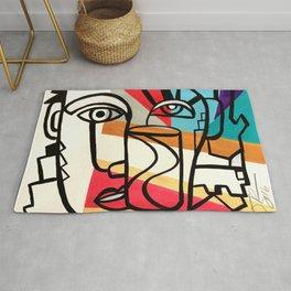 URBAN POP ART - ORIGINAL ART COLORFUL ROBERT R Rug