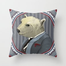 Mr. Polar Bear Throw Pillow