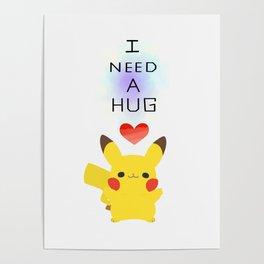 pika hug Poster