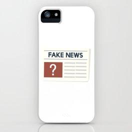 Fake News iPhone Case