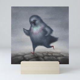 Jogging Pigeon Mini Art Print