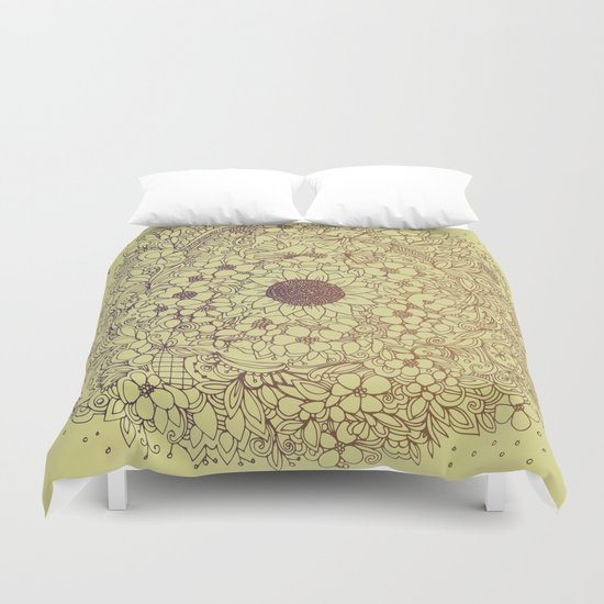 Flower circle Duvet Cover