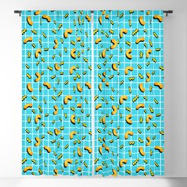 80s mac and cheese Blackout Curtain