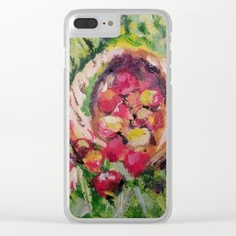 Basket of apples stil life Clear iPhone Case