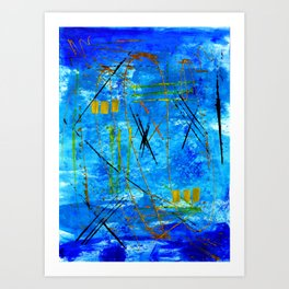 I got the blues Art Print