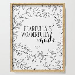 Fearfully and Wonderfully Made Serving Tray